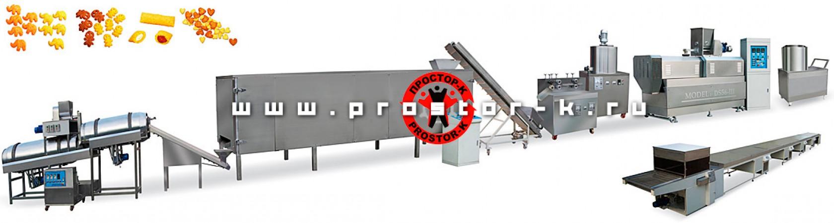 Компания Простор-К вводит в ассортимент продаж линию по производству сухариков, кукурузных палочек