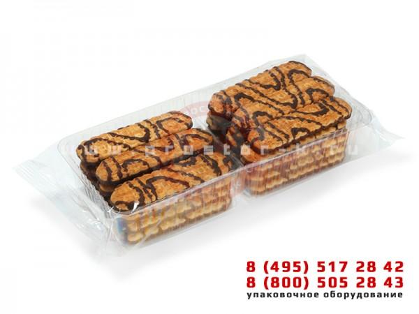 Групповая упаковка печень в коррексе на горизонтальной машине