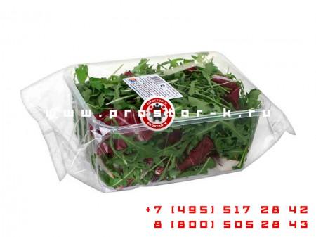 Запуск машины для упаковки кресс салата с автоматической подачей