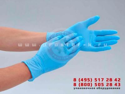 Упаковка одноразовых медицинских перчаток