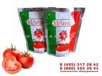 Упаковка томатной пасты и кетчупа в пакеты дой-пак