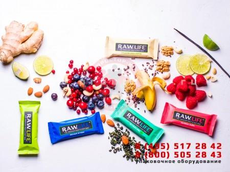 Упаковка протеиновых и орехово-фруктовых батончиков